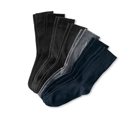 Men's Socks Set of 7, Black/Grey/Blue/Anthracite