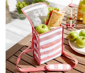 Cooling Lunch Bag, Pink/White