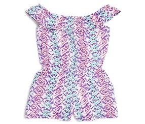 Design Girls' Print Romper, Purple