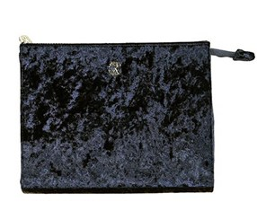 Christian Lacroix Crushed Velvet Clutch, Black