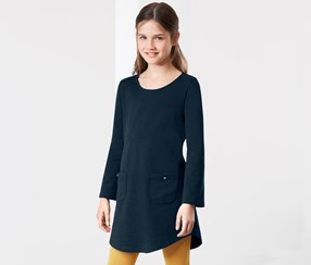 Girls Dress, Navy