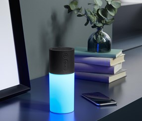 A Moody Lamp with a Bluetooth 2 in 1 Speaker, Black/White