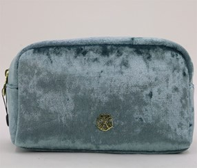 Christian Lacroix Crushed Velvet Voyager Cosmetic Kit, Light Blue