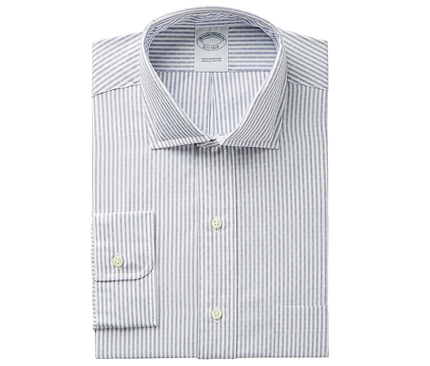 4d0ea53ca09b ... Brooks Brothers Men s Regent Slim-Fit Non-Iron Dobby Stripe Dress Shirt