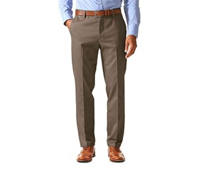 Dockers Signature Stretch Slim Tapered Fit Flat Pants, Brown