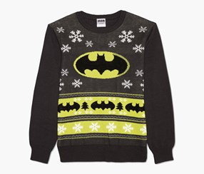 Men's  Holiday Sweater, Charcoal