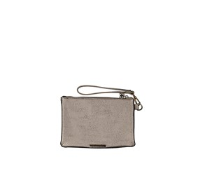 BCBGeneration Women's Portia Zip Pouch, Pewter