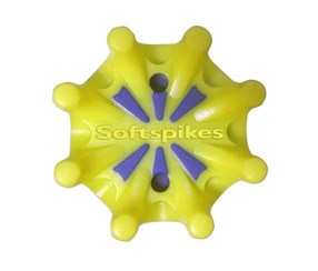 Pulsar Cleats Fast Twist Softspikes, Yellow/Blue