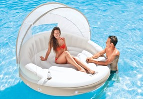 Intex Canopy Island Inflatable Lounge, 1.99m x 1.50 m, White