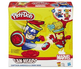Marvel Play-Doh Can-Heads Captain America & Iron