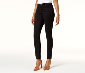 Style Co Tummy Control Skinny Jeans, Deep Black