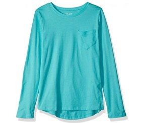 The Children's Place Girl's Long Sleeve T-Shirt, Sea Frost