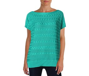 Women's Mendoluna Cable Knitted Sweater, Tropic Turquiose