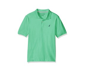 Nautica Boys Oceanside Textured Stripe Polo, Spearmint