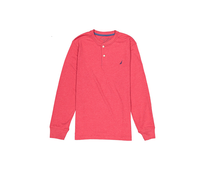 04f36efc79bf5 Shop nautica Nautica Kids Boys Long Sleeve Henley Tee, Red Rouge for Kids -  Boys in Lebanon - Brands For Less