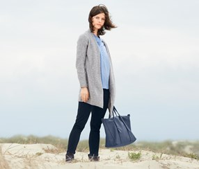 Women's Long Cardigan, Grey