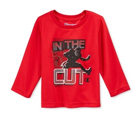 Champion Boy's Long-Sleeve Graphic, Red