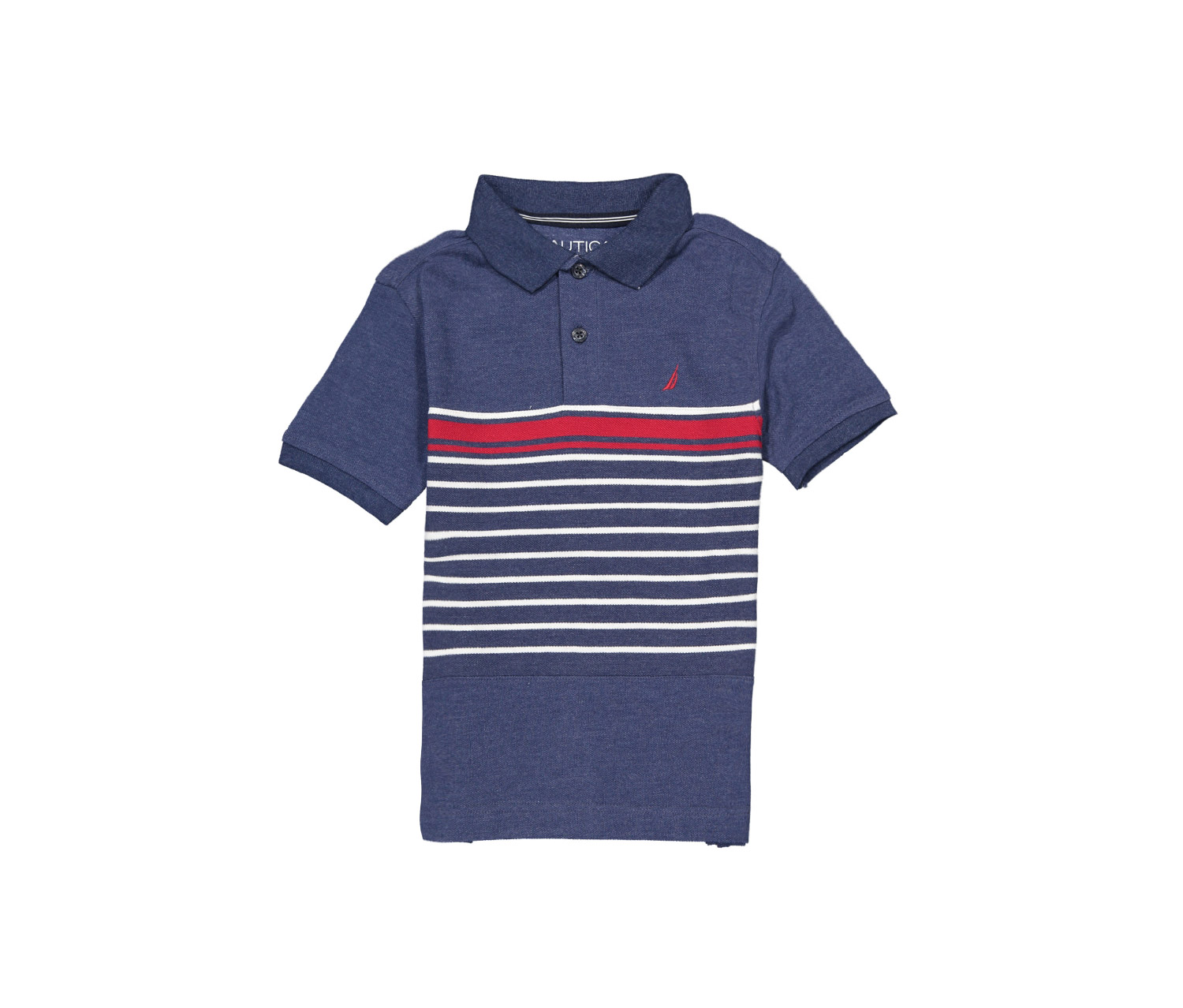 ece82f97da7412 Shop nautica Nautica Boys Short Sleeve Striped Deck Polo Shirt, Retro Blue  for Kids - Boys in Lebanon - Brands For Less