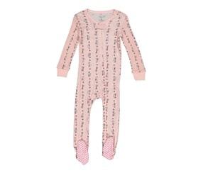 Rene Rofe Little Girls' 1-Piece Footed Pajamas, Pink