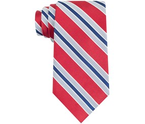Club Room ST Kitts Tie, Red/Navy