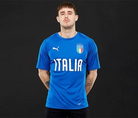 Puma FIGC Italia Training Jersey Shirt, Blue