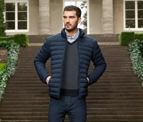 Men's Quilted Jacket, Navy Blue