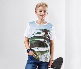 Boys Photo Print T-Shirt, White
