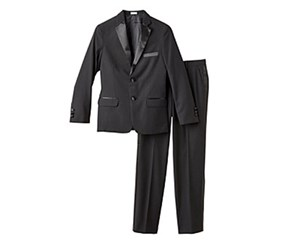 Calvin Klein Big Boy's Tuxedo Suit, Black