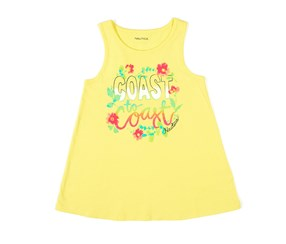 Nautica Girls Coast-to-Coast Tank Top, Yellow