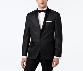 Ryan Seacrest Distinction Men's Microdot Dinner Jacket, Black