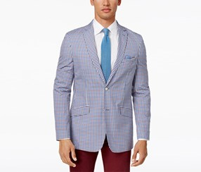 Tallia Men's Slim-Fit Sport Coat, Blue/White