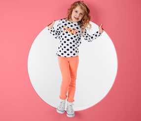 Girl's Treggings, Neon Orange