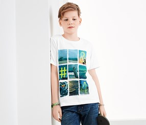 Kids Boys T-shirt, White