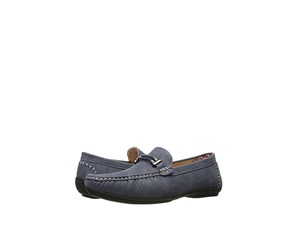 Stacy Adams Men's Percy Moc Toe Bit Loafer, Navy