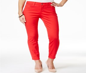 NYDJ Clarissa Women's Mid-Rise Jeans, Red