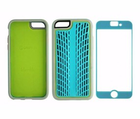 Griffin Identity Ultra Slim Case And Screen Guard Iphone 6 Plus, Turquoise/Grey