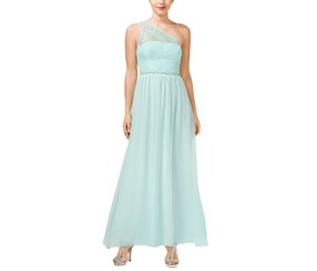 Speechless Juniors Embellished One-Shoulder, Aqua