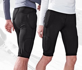 Unisex Trousers With Hip Protectors, Black