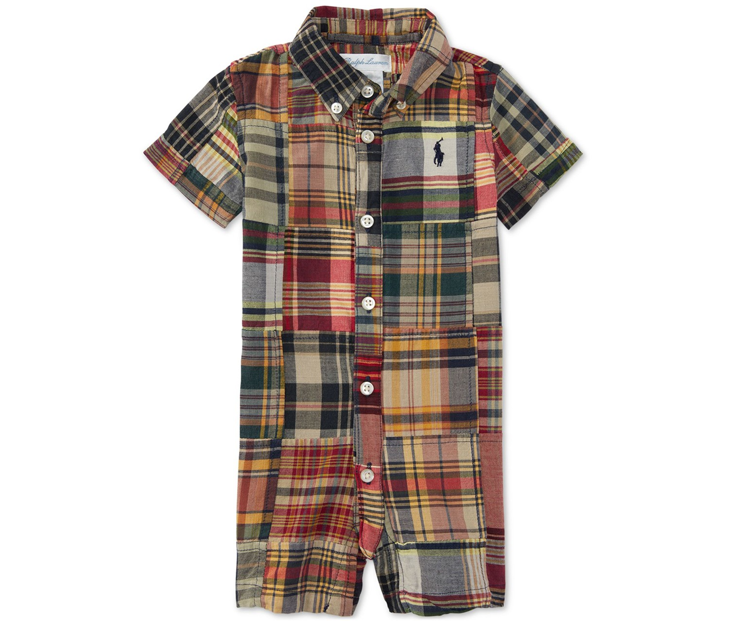 5f20ace7bb9fb Shop Ralph Lauren Ralph Lauren Baby Boys Plaid Button-Up Short, Grey ...
