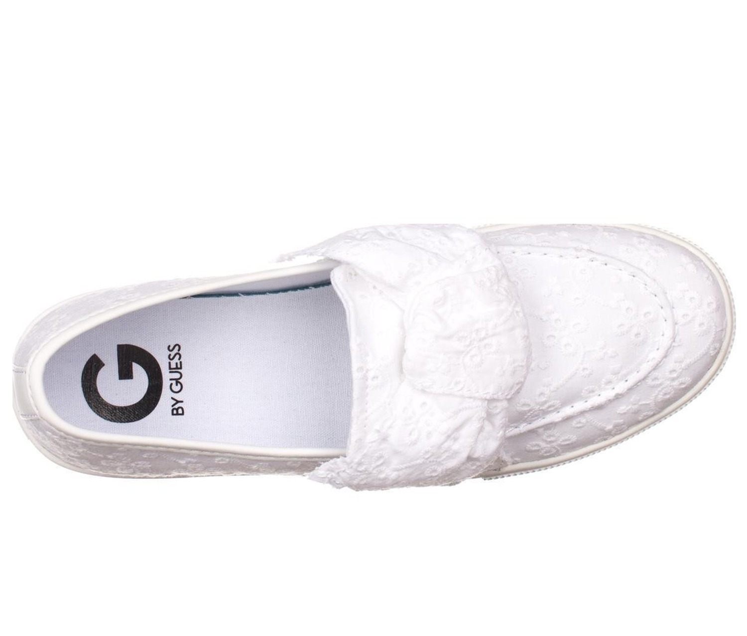 55ebc196ccd41 Shop Guess Guess Chippy Slip-on Fashion Sneakers, White for Women ...