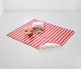 Picnic Blanket, 130 x 150 CM, Red/White