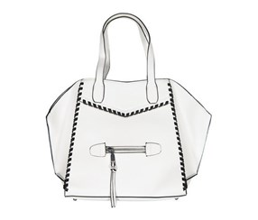 BCBGeneration Women's Aubry Tote Bag, White/Black