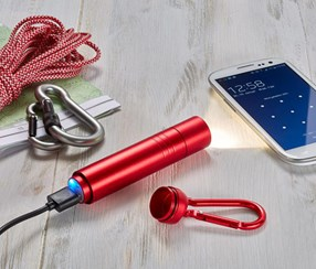 Rechargeable LED Torch With Power Bank