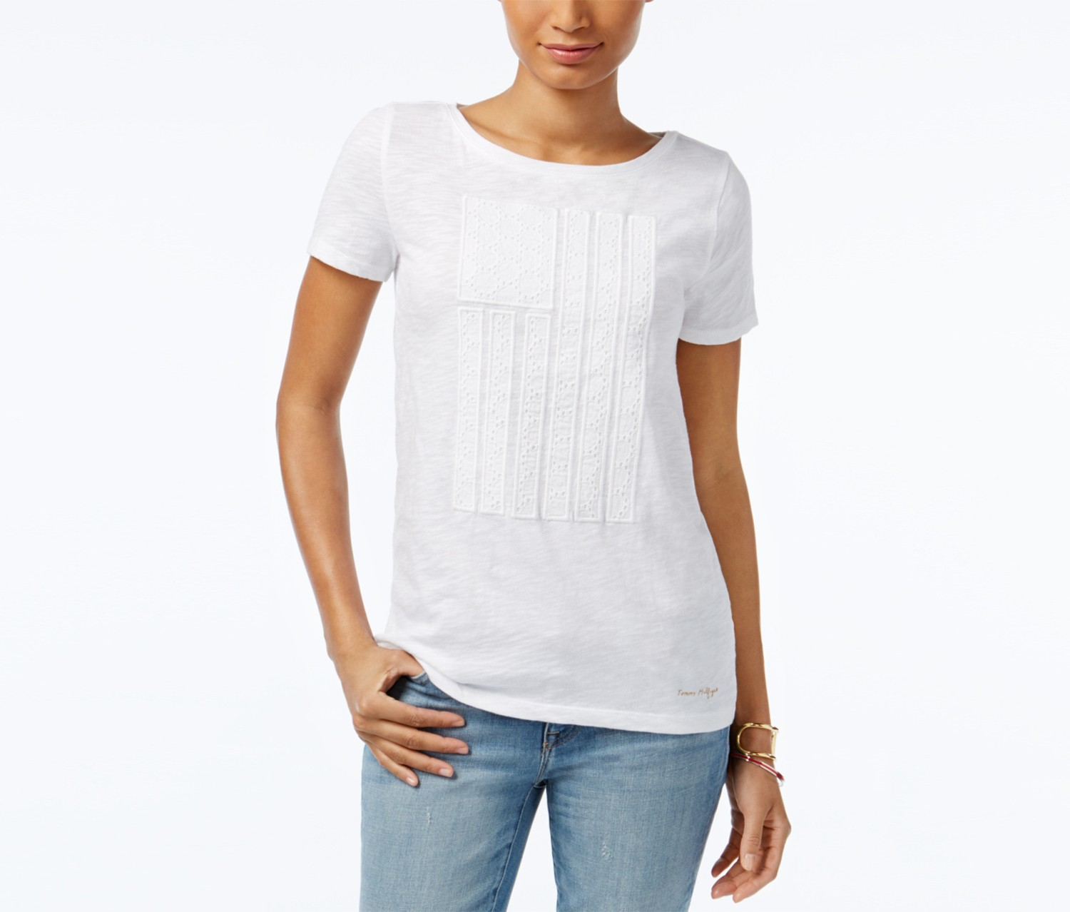 9483c216 Home Women Clothing Tops & Tees Tommy Hilfiger Dawn Embroidered Graphic T- Shirt, White. Reebok Sportswear · Kids Summer Clothing.  18/517/7670114112.jpg