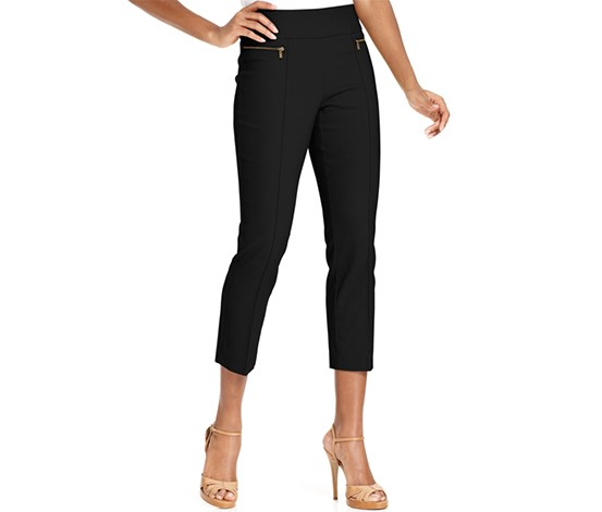 2f8a5b6fe5a80 Shop Style & Co Style & Co. Petite Pull-On Twill Leggings, Deep ...