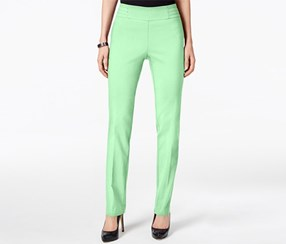 Jm Collection Petite Studded Pull-On Pants, Lime Green