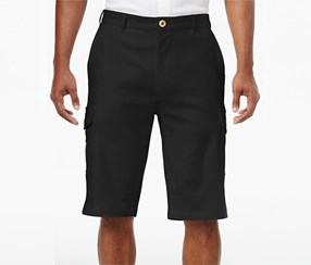 Sean John Men's Lightweight Cargo Shorts, Black