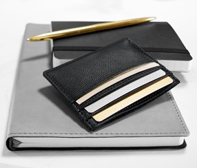 Card Holder 10 x 7.5 cm, Black