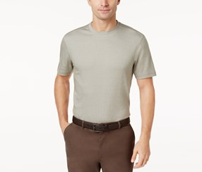 Tasso Elba Mens Classic-Fit T-Shirt, City Taupe