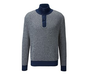 Mens Chunky Knit Pullover, Grey